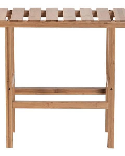 Tempo Kondela Príručný stolík k vírivke v tvare obdĺžnika prírodný bambus VIREO TYP 2