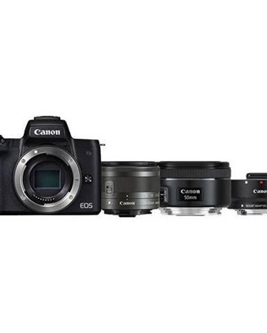 Digitálny fotoaparát Canon EOS M50 + M 15-45 IS STM + obj. 50/1.8 +
