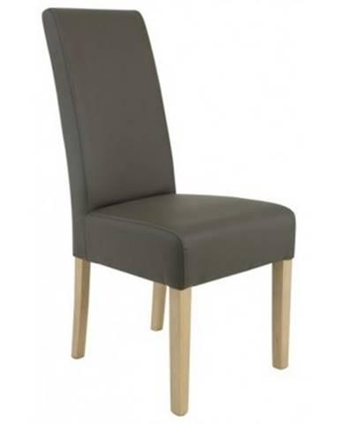 Jedálenská stolička Pauline, šedá ekokoža%