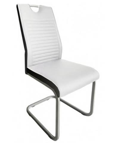 Jedálenská stolička Rindul, biela/čierna ekokoža%