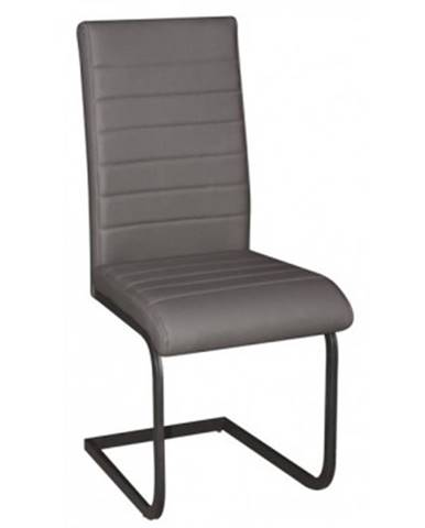 Jedálenská stolička Arden, šedá ekokoža%
