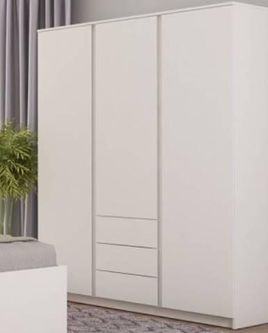 Šatníková skriňa Carlos, biela, 152 cm%