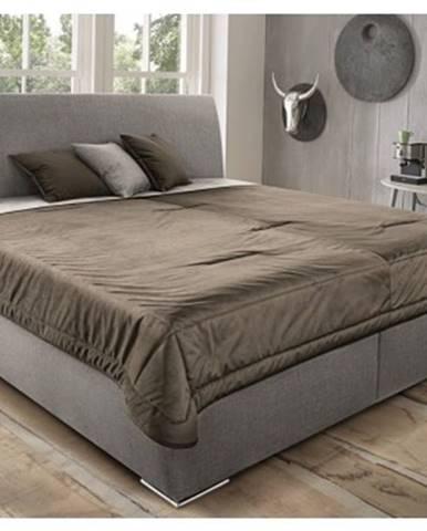 Posteľ Monte 180x200 cm, béžová tkanina/deka/vakúše%