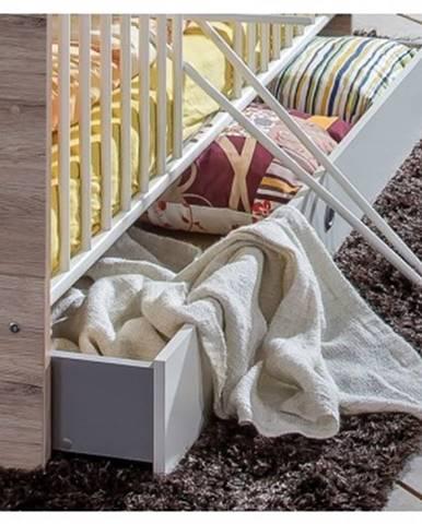 Úložná zásuvka pod posteľ Cariba, dub san remo/biela, na kolečkách%