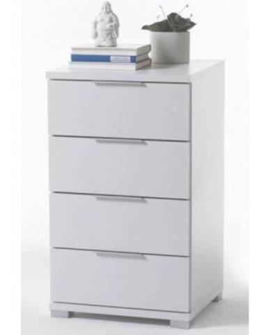 Vysoký nočný stolík / skrinka Samson Plus, biely%