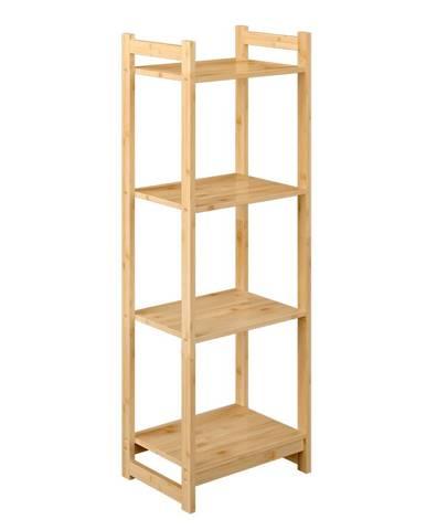 4-poličkový regál prírodný bambus IMPEROR TYP 2