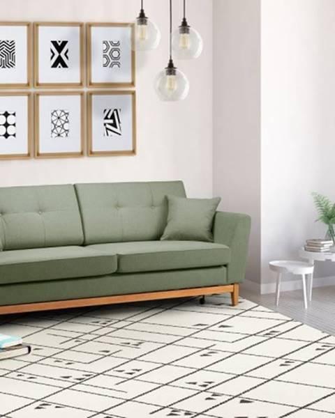 OKAY nábytok Trojsedačka Preta rozkladacia zelená