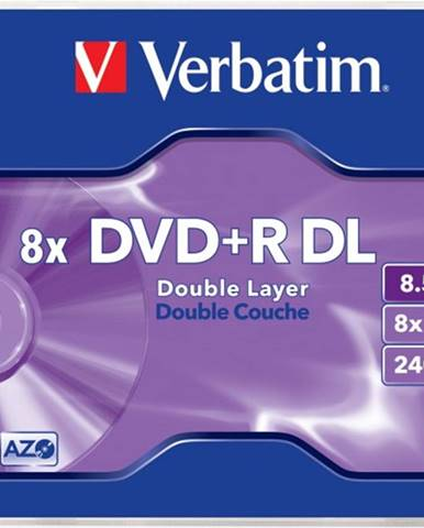Verbatim DVD+R DL 8,5GB 8x, 1ks