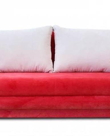 Rozkladacia pohovka Paul červená, béžová ÚP
