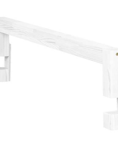 Biela bočnica zo smrekového dreva k posteli Benlemi Safety, dĺžka 90 cm