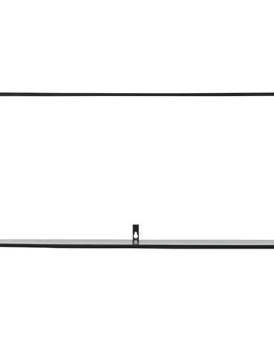Čierna nástenná polica WOOOD Meert, dĺžka 70 cm