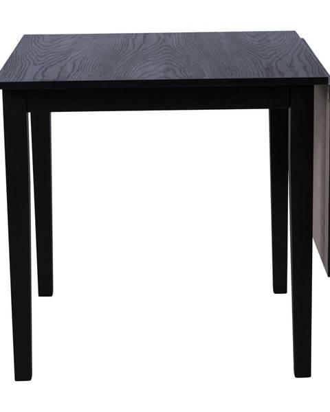 Canett Čierny rozkladací jedálenský stôl z dubového dreva Canett Salford, 75 x 75 cm