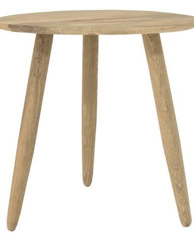Odkladací stolík z dubového dreva Canett Uno, ø 40 cm