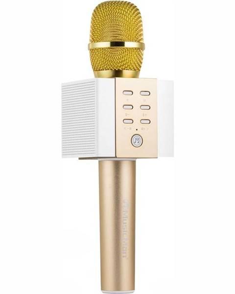Technaxx Prenosný reproduktor Technaxx Elegance, karaoke mikrofon zlat