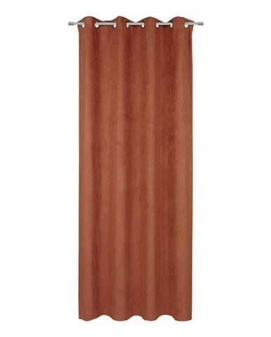 Záves S Krúžkami Velours, 140/245cm, Terakota