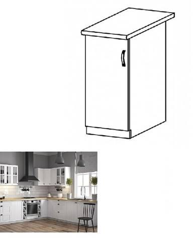 Dolná skrinka D40 ľavá biela/sosna andersen PROVANCE
