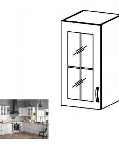 Horná skrinka so sklom G40S ľavá biela/sosna andersen PROVANCE