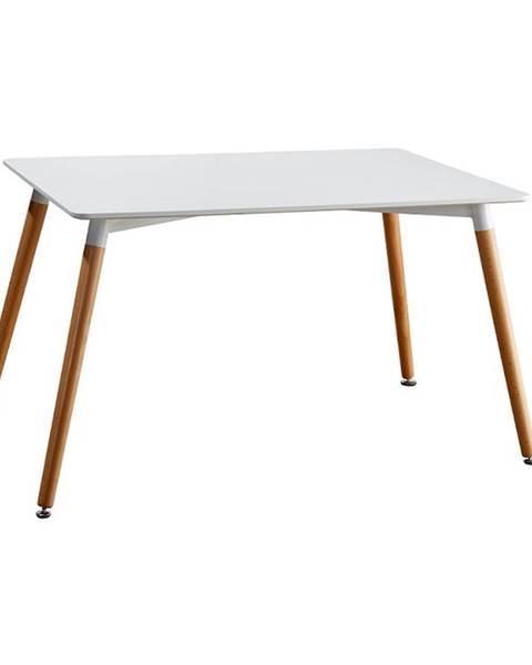 Kondela Jedálenský stôl biela/buk DIDIER 3 NEW poškodený tovar
