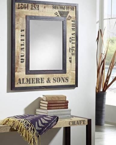 FABRICA Zrkadlo 80x90 cm, mango