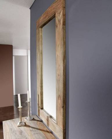GREY WOOD Zrkadlo 60x115 cm, palisander