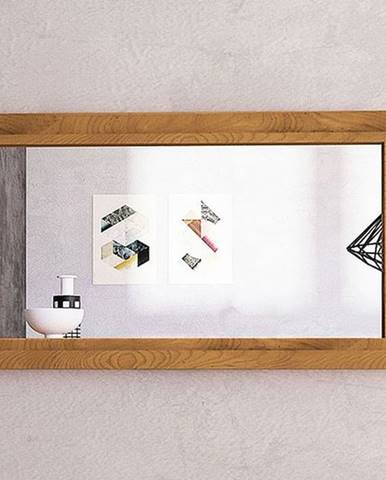 SKANE Zrkadlo 90x60 cm, dub, prírodná
