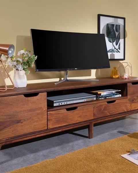 Bighome.sk SKANE TV stolík 180x48 cm, palisander, hnedá