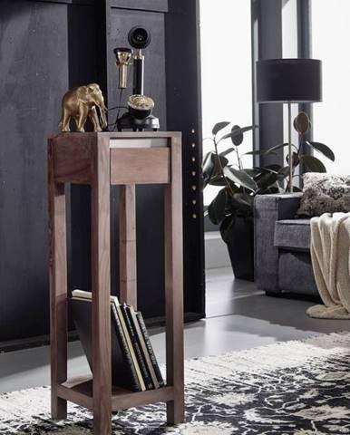 ROUND Príručný stolík 30x30x90 cm, dymová, palisander