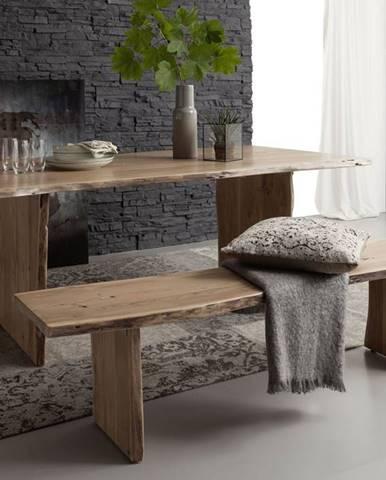 WOODLAND Jedálenský stôl 180x100 cm, prírodná, akácia