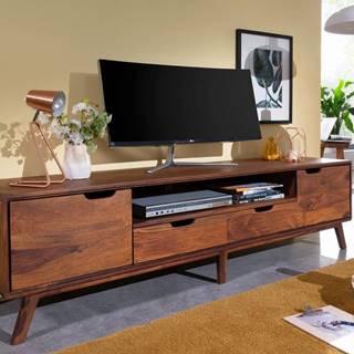 SKANE TV stolík 180x48 cm, palisander, hnedá