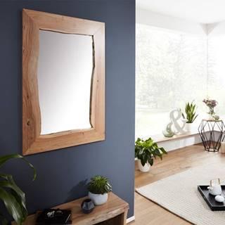WOODLAND Zrkadlo 100x70 cm, prírodná, akácia