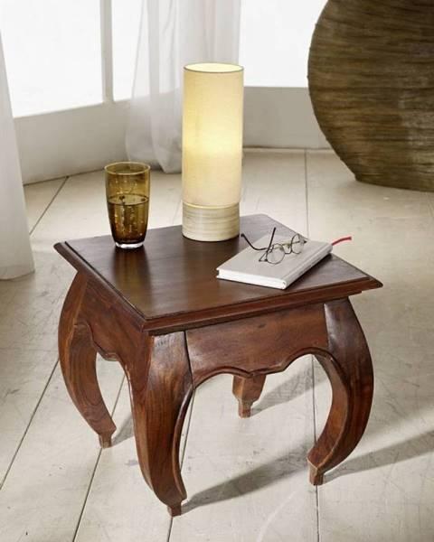Bighome.sk ORIENT Nočný stolík 45x45 cm, akácia