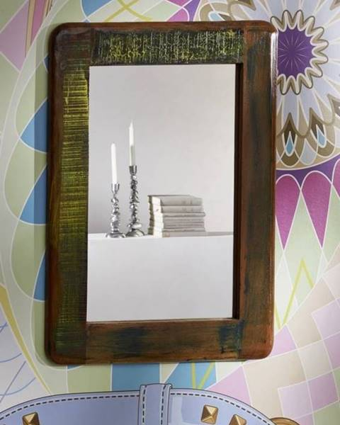 Bighome.sk TESORI Zrkadlo 60x80 cm, staré drevo