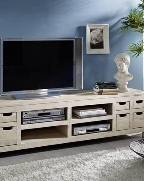 Bighome.sk WHITE WOOD TV stolík 200x50 cm, akácia