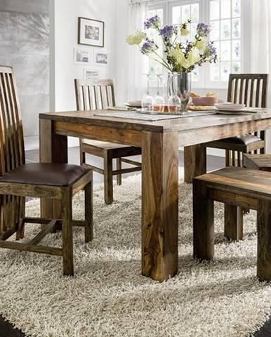 PLAIN SHEESHAM Jedálenský stôl 240x100 cm, palisander