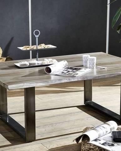 ROUND Konferenčný stolík METALL 120x80 cm, dymová, palisander