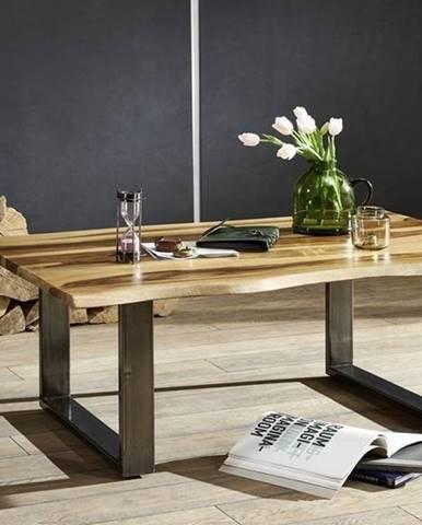ROUND Konferenčný stolík METALL 120x80 cm, hnedá, palisander