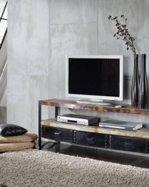 Bighome.sk INDUSTRY TV stolík 145x60 cm, staré drevo