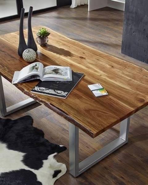 Bighome.sk METALL Jedálenský stôl 220x100 cm, akácia