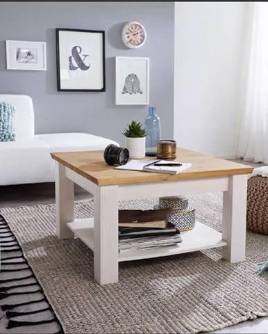 BIANCA Konferenčný stolík 75x75 cm, borovica