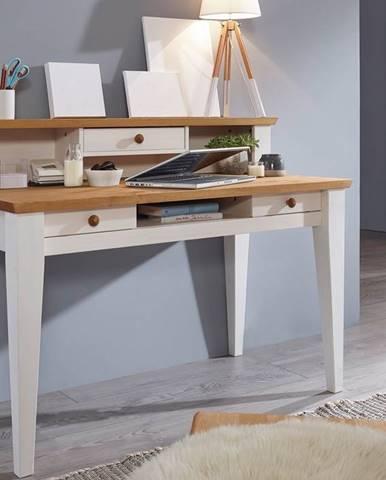 BIANCA Písací stôl 124x62 cm, borovica