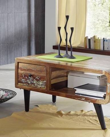 RETRO Konferenčný stolík 120x60 cm, staré drevo