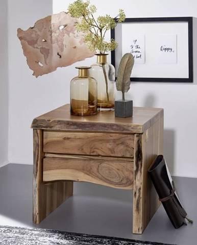 WOODLAND Nočný stolík 40x45 cm, prírodná, akácia