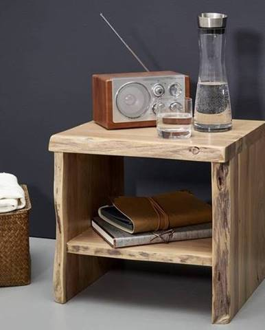 WOODLAND Nočný stolík bez šuplíka 40x45 cm, prírodná, akácia