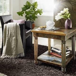 COLORES Konferenčný stolík 60x60 cm, staré drevo