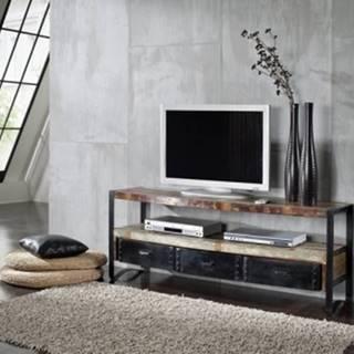 INDUSTRY TV stolík 145x60 cm, staré drevo