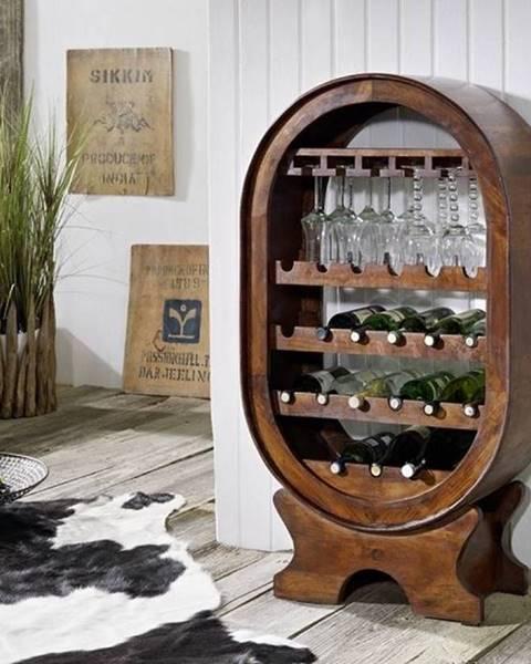 Bighome.sk CAMBRIDGE Regál na víno 120x67 cm, akácia