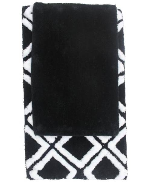 MERKURY MARKET Sada koberčekov BM-1612 čierna 50X80+40X60