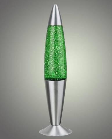 Lávová lampa Glitter zelená