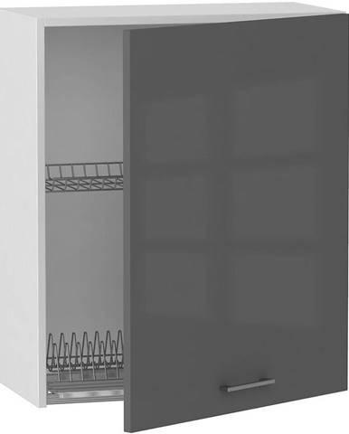 Skrinka do kuchyne Alvico W60 SU P/L antracita BB