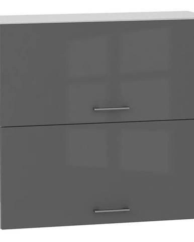 Skrinka do kuchyne Alvico W80 GRF/2 antracita BB